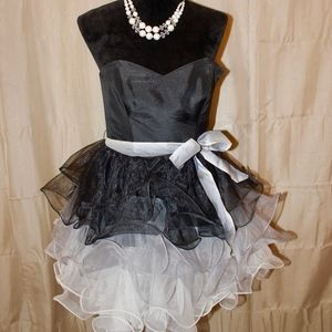 Betsey Johnson Black, Silver, and White Dress